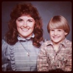 Vintage photo of mom and me.