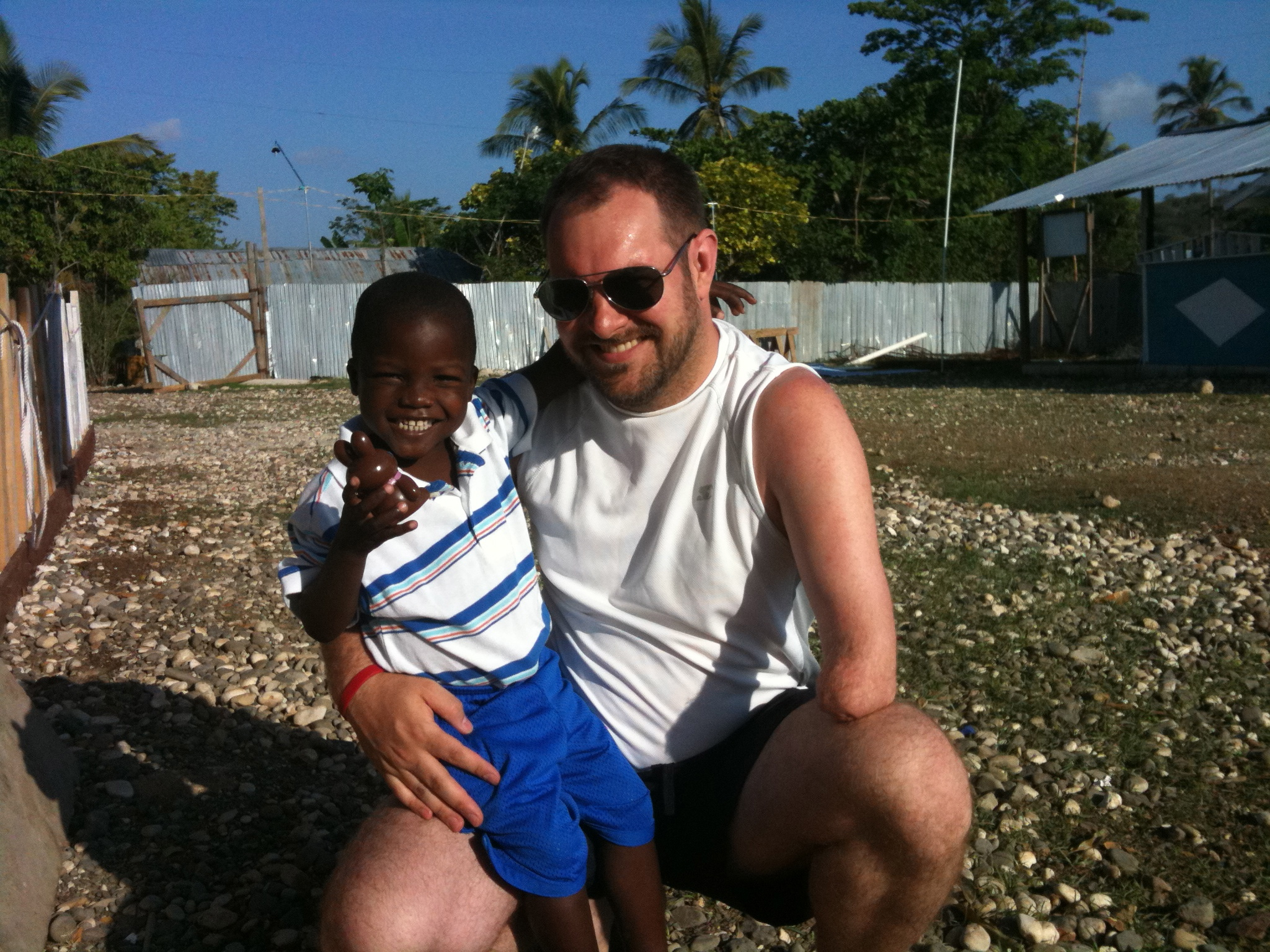 Me and Jameley, our sponsor child.