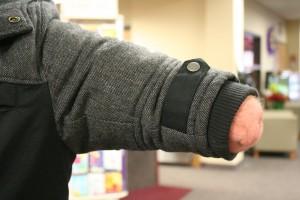 left winter coat sleeve amputee