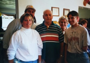 My Aunt Lu, Uncle Roger, Grandpa, Mary and Me at my 18th birthday