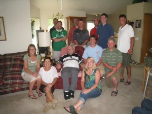 Some of the grandkids and grandpa in 2011