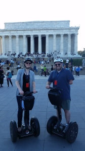 Cabell and me at the Lincoln Memorial, not looking like nerds at all.