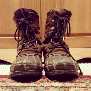 The boots Papa gave to Sam.