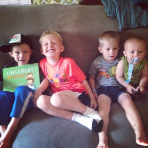 Ryder, Judah, Will and Teddy!