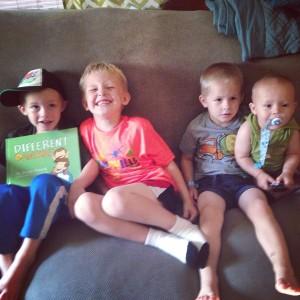 Ryder, Judah, Will and Teddy!